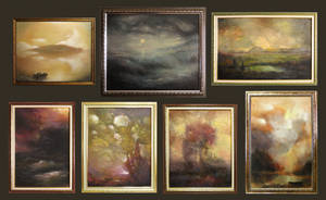 some of my paintings in a frame by KlimN