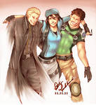 Commission: Remembrance - Wesker, Jill and Chris