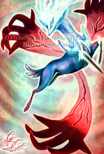 Pokemon X + Y Legendaries - Xerneas and Yveltal by MasterOfUnlocking