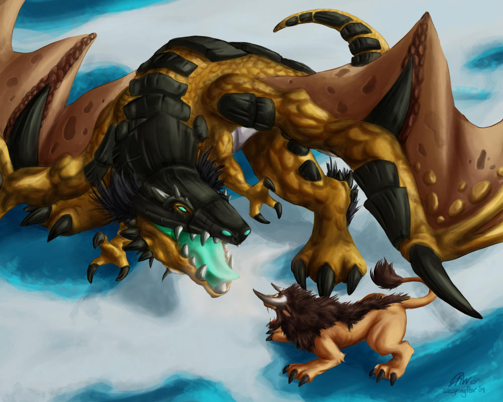 Time-Lost Protodrake by Sleepingfox