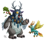 Moonkin and Hippogryph