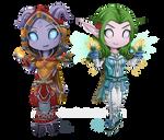 Taelainne and Kuroma