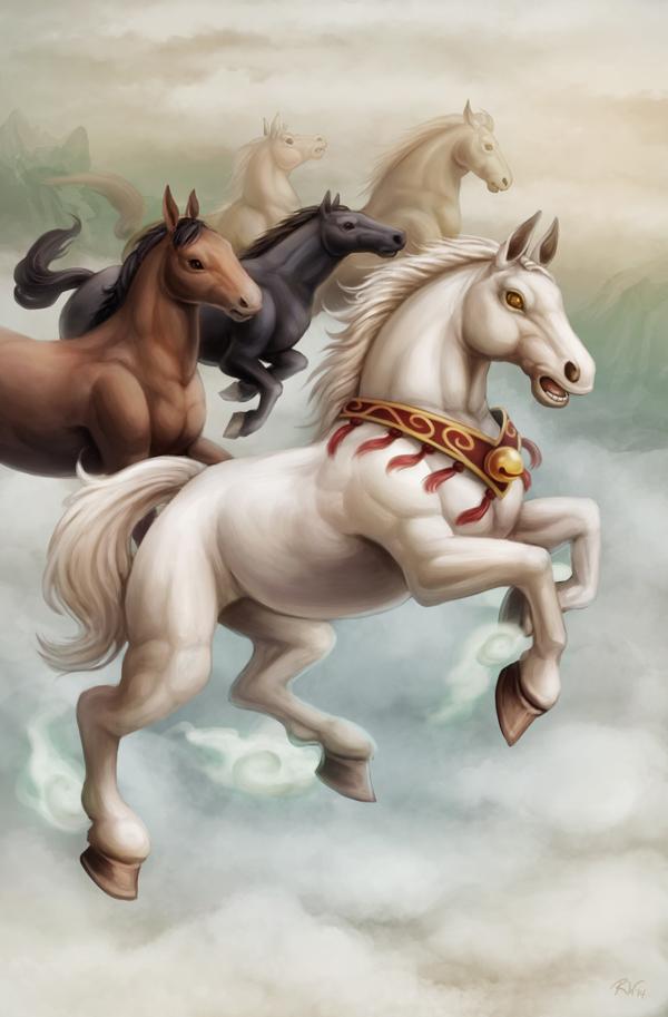 Year of the Horse 2014 by Sleepingfox