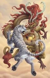 The Tigress and Ancient Dragon by Sleepingfox