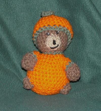 Pumpkin Bear Amigurumi by ErikDShipley