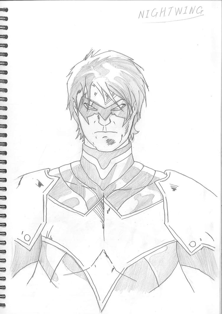 Nightwing Face Drawing