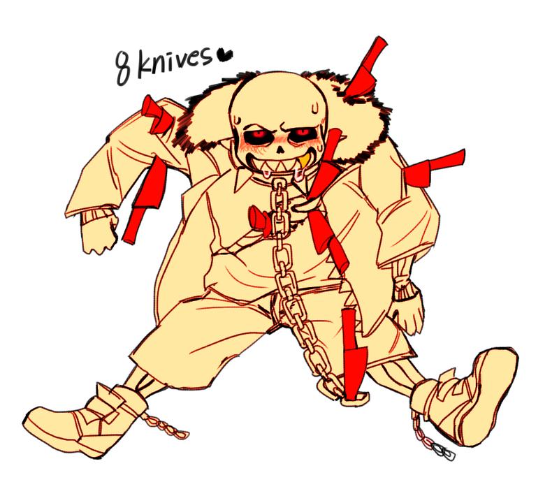 Underfell SANS and knives by hobakamuk on DeviantArt