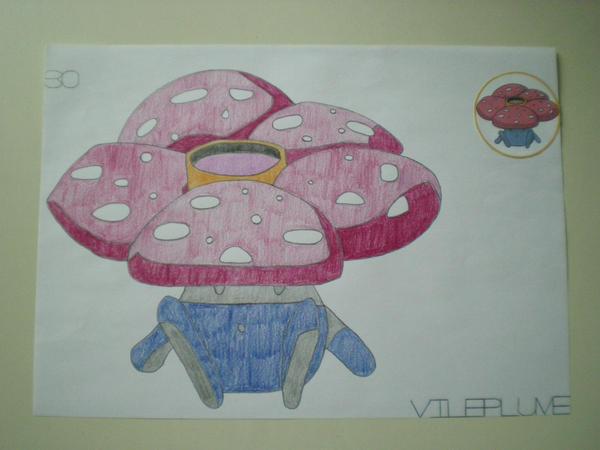 Vileplume by charlenequek
