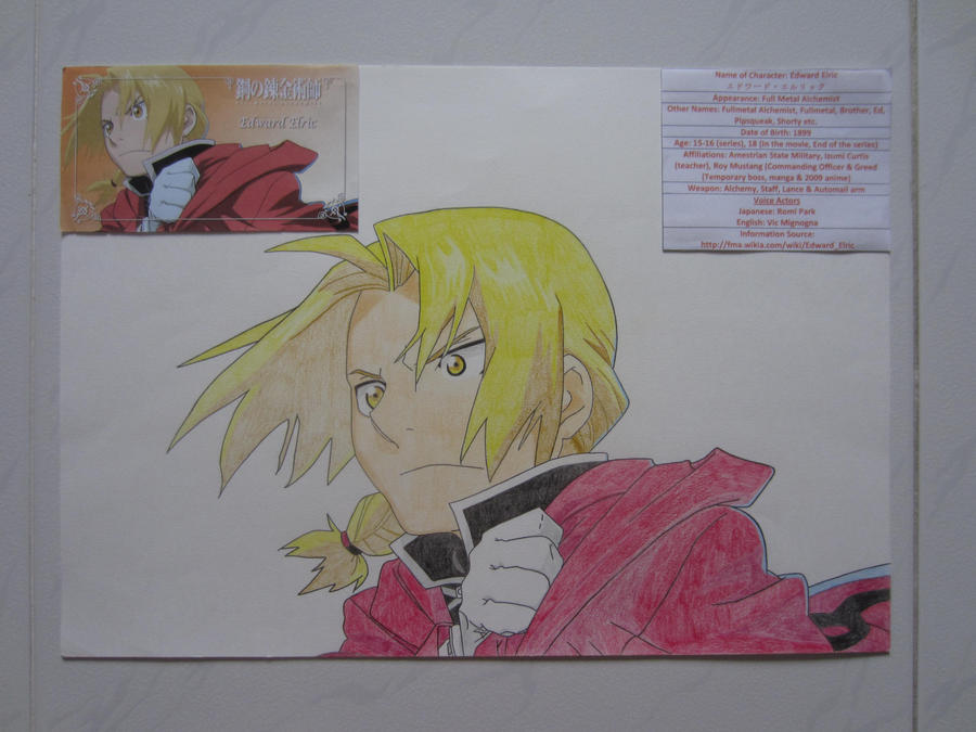 In Vic's Art Project 2: Edward Elric by charlenequek