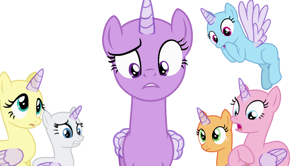 Mlp Main Cast Looking Frightened Base By Cookiechans2 On