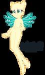 EqG Crystal Guardian Fluttershy Base 07