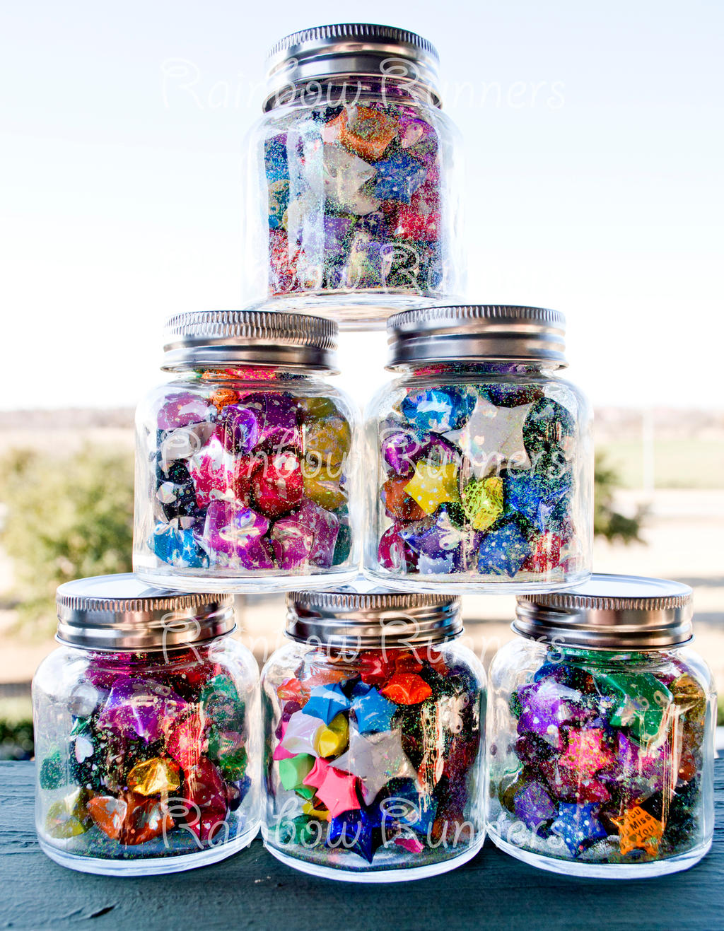 Wish jars lucky star origami large by for How to make a big paper star