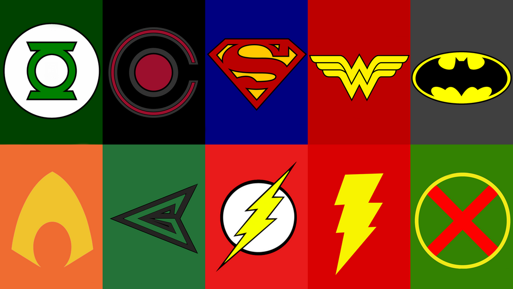 Justice League Logos (The Main 10) by robbedthief on ... Justice League Emblem Images