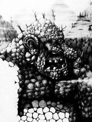 Norwegian mountain troll by Schinkenspicker