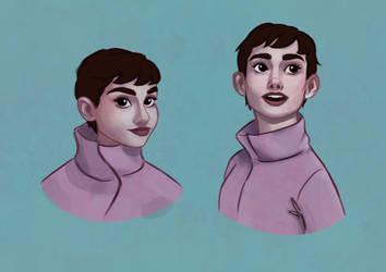 Audrey Hepburn by crayon-landscapes