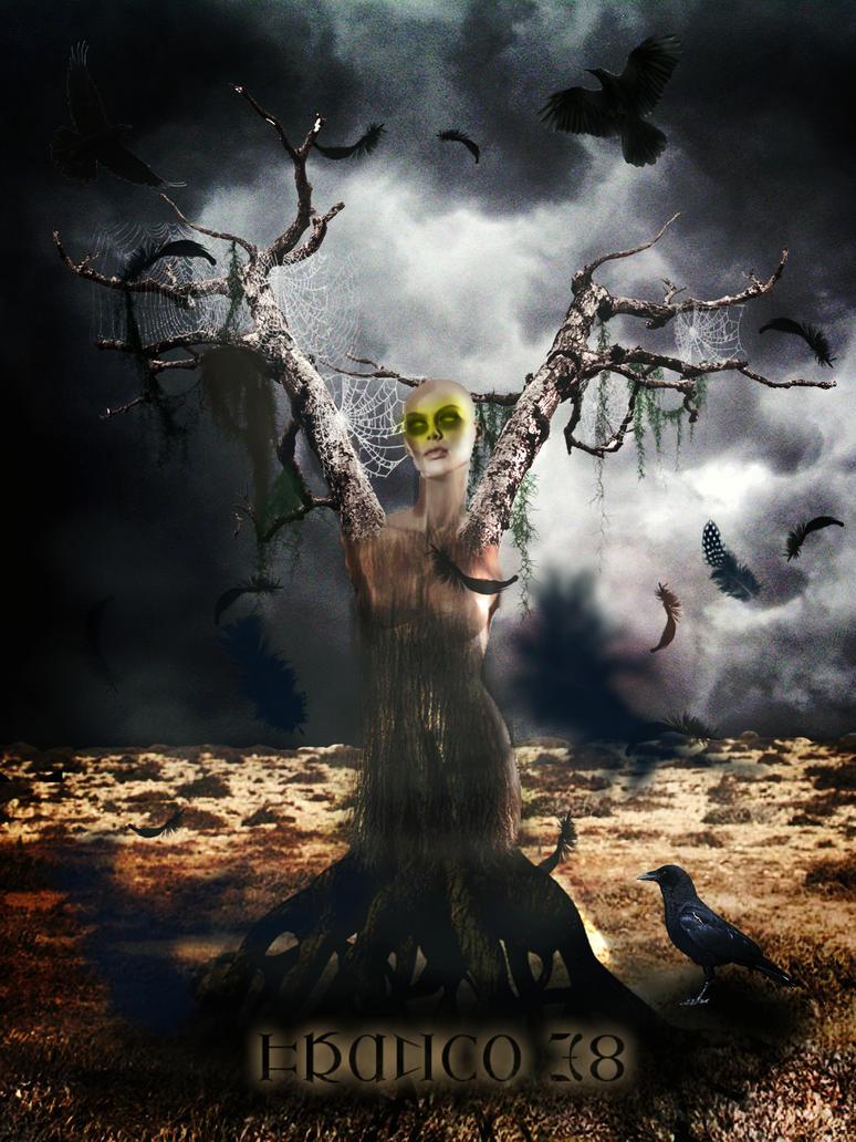 Creepy tree by FrankyTheCrazyGuy