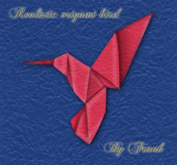 Realistic origami bird by FrankyTheCrazyGuy