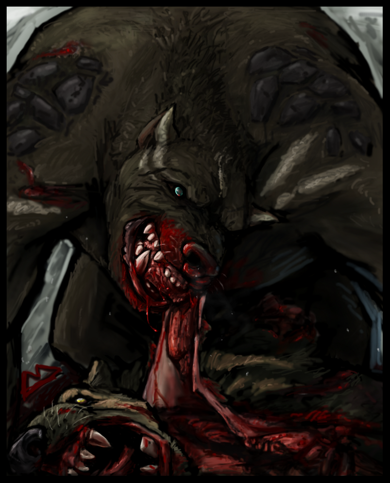 Goretober .6 Cannibalism by TheScreepy