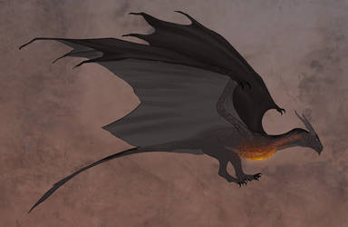 Rial's mount - Coal hearthed wyvern by Koriaris