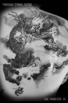Chinese Watercolor Style Dragon