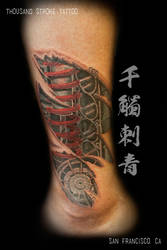 Automotive Enthusiast Mechanical Cover Up by ThousandStrokeTattoo