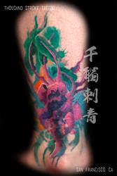 Water Color Painterly Beet Heart by ThousandStrokeTattoo