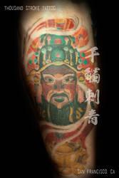 Chinese Money God by ThousandStrokeTattoo