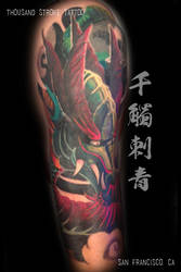 Dragon Arm Cover Up by ThousandStrokeTattoo