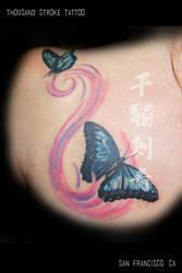 Butterflies in the Wind by ThousandStrokeTattoo