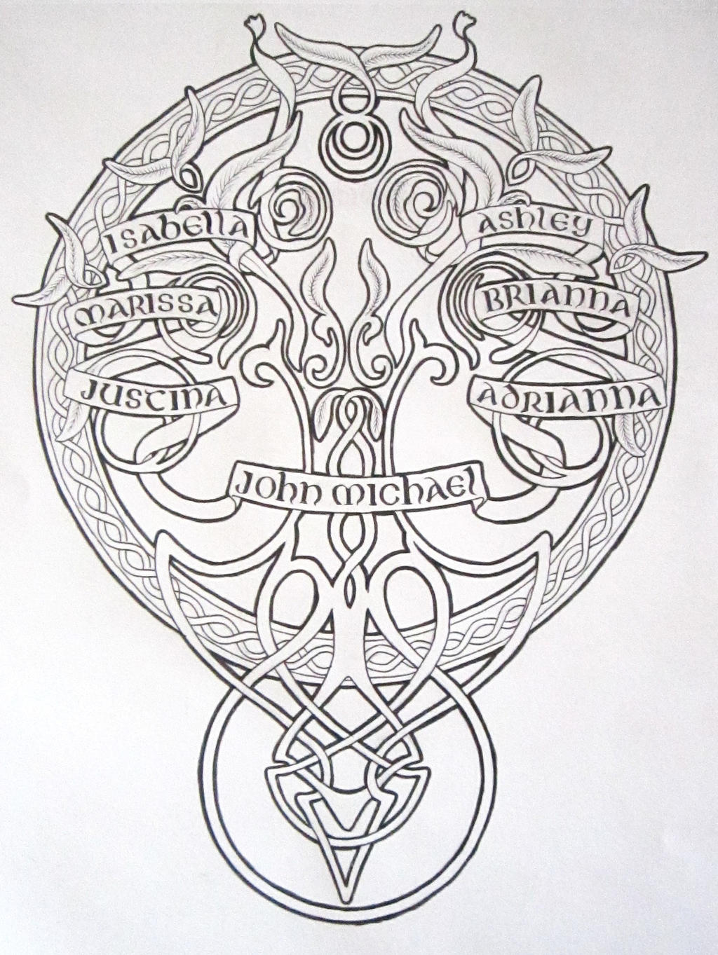 Celtic family tree design by Byakuren-Studios on DeviantArt