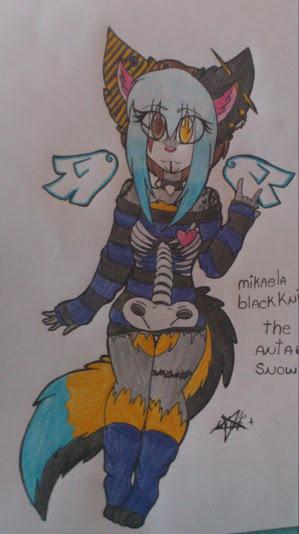 Mikaela blackknight the antartick snow wolf by percivalxthexwolfx