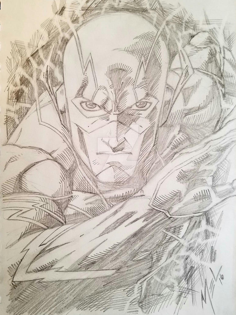 MelvinC.pencilsNew52Flashpinup by HadesNemesis7