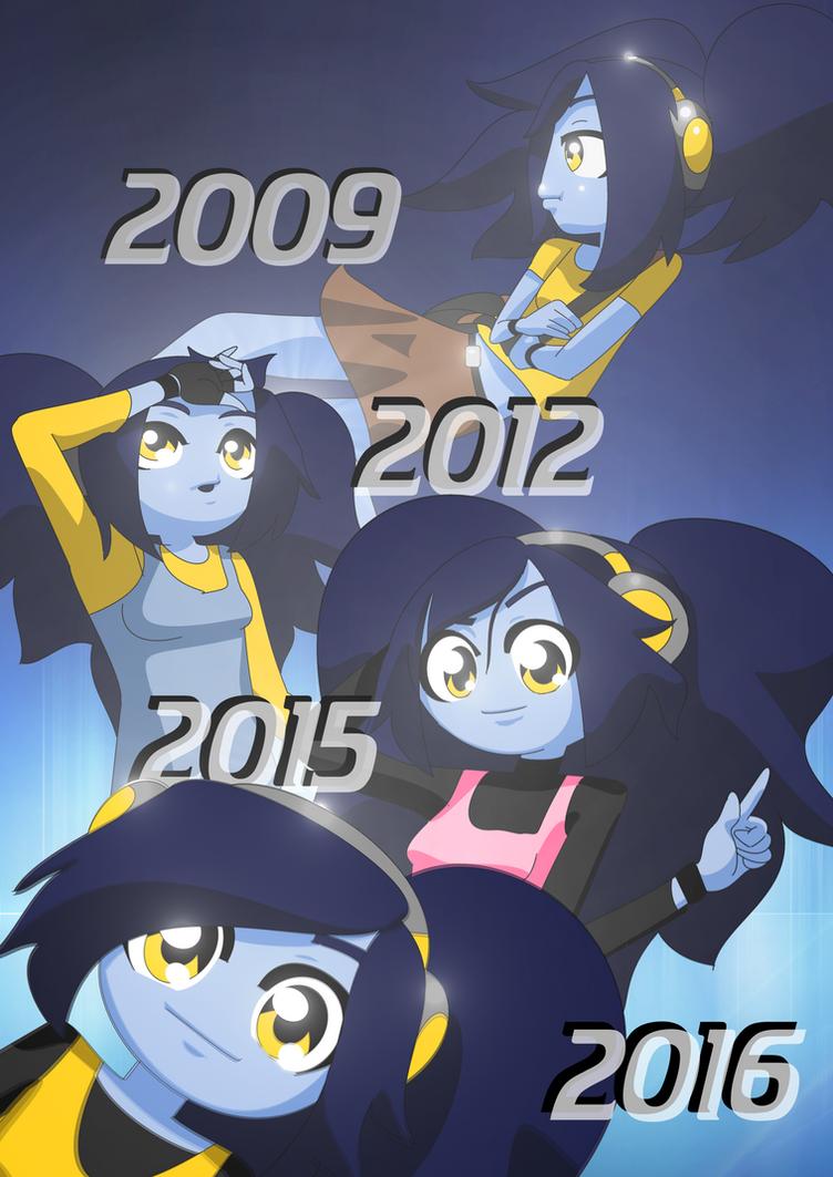 Blue Timeline Poster by BlueJackG