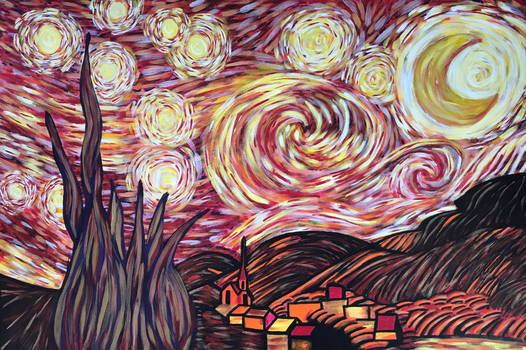 Starry night in Hell