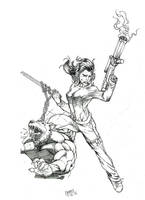 First Comics Pinup by Alf-Alpha