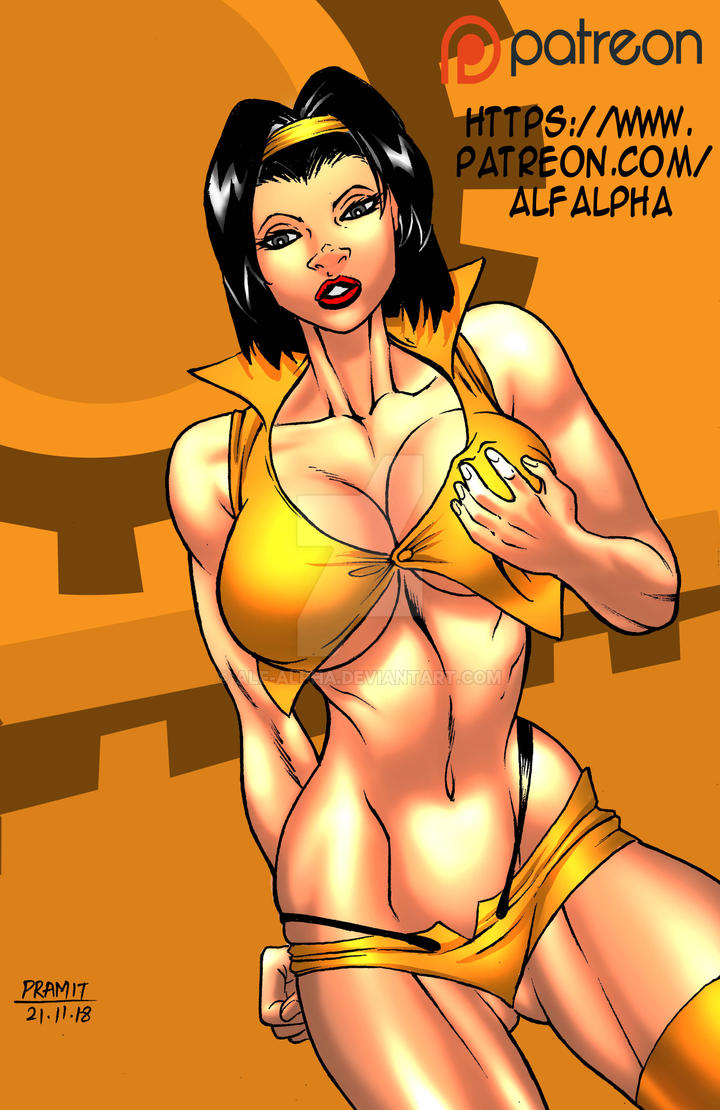 FAYE VALENTINE PINUP colored by Alf-Alpha