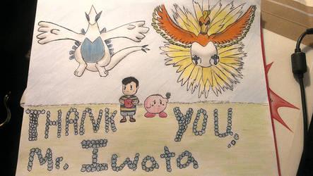Satoru Iwata Tribute Art Pokemon EarthBound Kirby