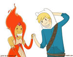 Finn and Flame Princess are Cuties