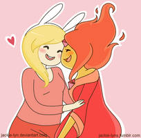 Flame Princess and Fionna by Jackie-lyn