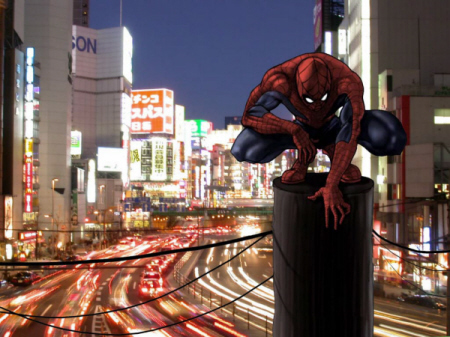 Spidey In Tokyo by Son-ALA