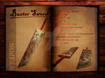 Final Fantasy 7 weapon book (Buster Sword)