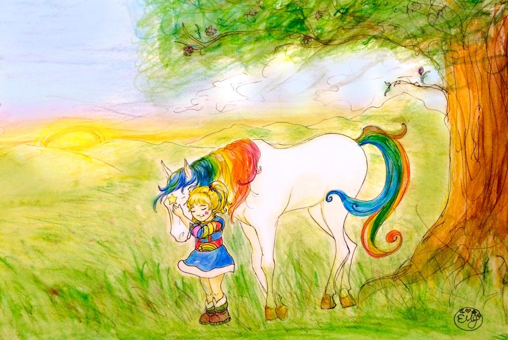 Rainbow Brite loves her Starlite by EboniJewell