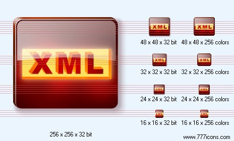 XML Icon by dedumber