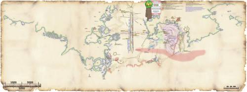 Dererund Horasische Weltkarte 1040 BF by thomads3890