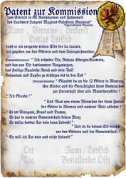 Reichsarmee - Kommissionspatent, Blanko by thomads3890