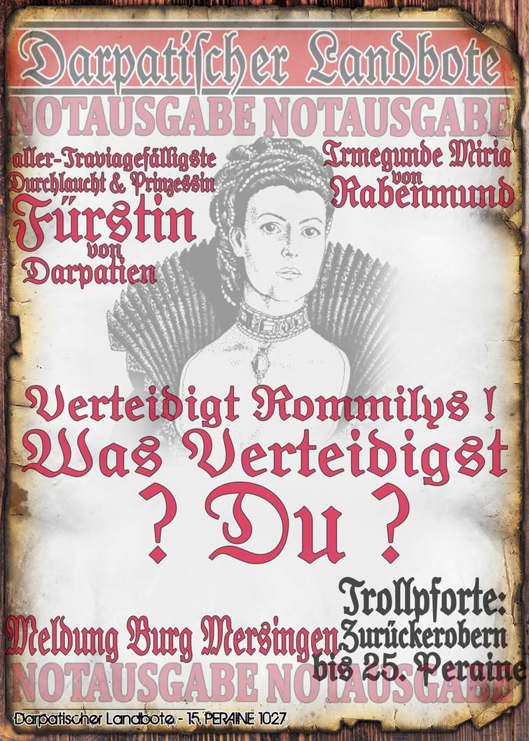 Notblatt Flyer Irmegunde 1 von 3 by thomads3890