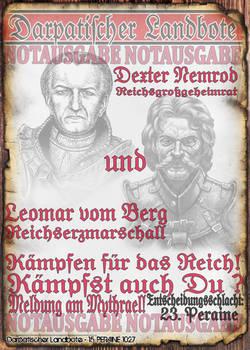Notblatt Flyer Nemrod und vom Berg 2 von 3