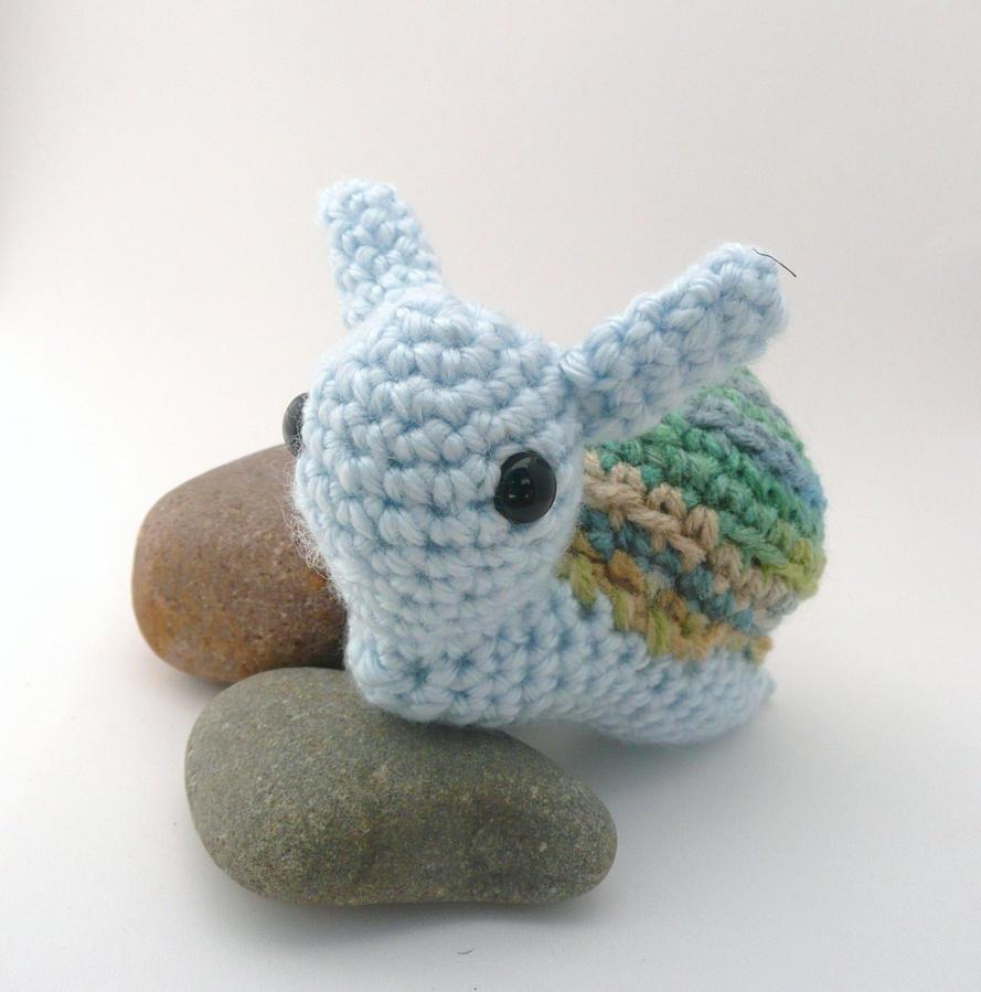 Snail Avengers Amigurumi : blue and gree snail amigurumi by e1fy on DeviantArt