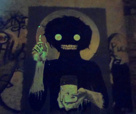 Survival of the Fireflies-StreetArt phosphorescent