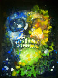 Skull Colors / in process by Johnny-Aza